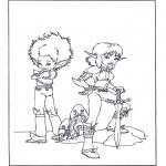 Ausmalbilder Comicfigure - Artus und die Minimoys 4
