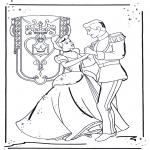 Ausmalbilder Comicfigure - Aschenputtel 1