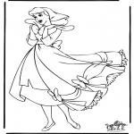 Ausmalbilder Comicfigure - Aschenputtel 13