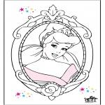 Ausmalbilder Comicfigure - Aschenputtel 15