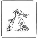 Ausmalbilder Comicfigure - Aschenputtel 2