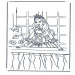 Ausmalbilder Comicfigure - Aschenputtel 4