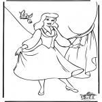 Ausmalbilder Comicfigure - Aschenputtel 8