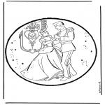 Basteln Stechkarten - Aschenputtel