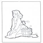 Ausmalbilder Comicfigure - Aschenputtel soll putzen