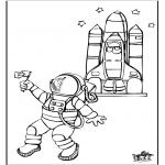 Allerhand Ausmalbilder - Astronaut 2