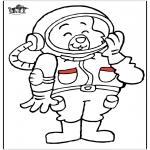 Allerhand Ausmalbilder - Astronaut Katze