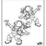 Allerhand Ausmalbilder - Astronaut