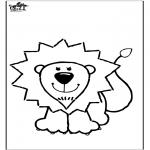 Ausmalbilder Tiere - Ausmalbild Löwe