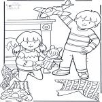Basteln Stechkarten - Ausmalbilder Geschenke
