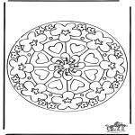 Malvorlagen Mandalas - Ausmalbilder mandala herzen