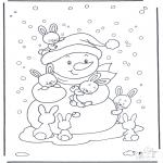 Malvorlagen Winter - Ausmalbilder schnee gratis