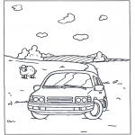 Allerhand Ausmalbilder - Auto im Land