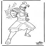 Ausmalbilder Comicfigure - Avatar 4