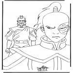 Ausmalbilder Comicfigure - Avatar 7
