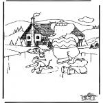 Malvorlagen Winter - Babar Winter