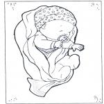 Ausmalbilder Themen - Baby 1