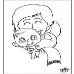 Ausmalbilder Themen - Baby 11
