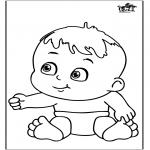 Ausmalbilder Themen - Baby 12
