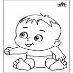 Ausmalbilder Themen - Baby 13