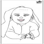 Ausmalbilder Themen - Baby 15