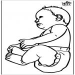Ausmalbilder Themen - Baby 16