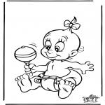 Ausmalbilder Themen - Baby 4