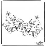 Ausmalbilder Themen - Baby 5