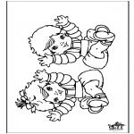 Ausmalbilder Themen - Baby 9