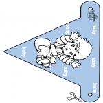 Ausmalbilder Themen - Baby Fähnchen 2
