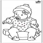 Ausmalbilder Themen - Baby Mädchen 2