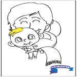 Ausmalbilder Themen - Baby malvorlage 2