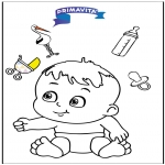 Ausmalbilder Themen - Baby malvorlage 3