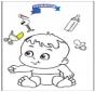 Baby malvorlage 3