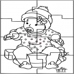 Ausmalbilder Themen - Baby Puzzle 1