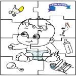 Ausmalbilder Themen - Baby Puzzle 2