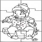 Ausmalbilder Themen - Baby Puzzle