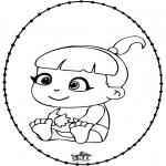Ausmalbilder Themen - Baby Stechkarte 2