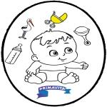 Ausmalbilder Themen - Baby Stechkarte 3