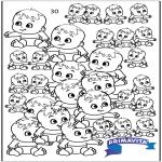 Malvorlagen Basteln - Babys zählen