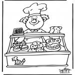 Allerhand Ausmalbilder - Bäcker 1