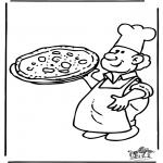 Allerhand Ausmalbilder - Bäcker 3