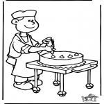 Allerhand Ausmalbilder - Bäcker 4