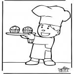Allerhand Ausmalbilder - Bäcker 5