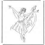 Allerhand Ausmalbilder - Ballerina 1
