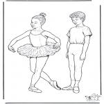 Allerhand Ausmalbilder - Ballett 1