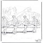 Allerhand Ausmalbilder - Ballett 2