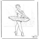 Allerhand Ausmalbilder - Ballett 3