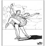 Allerhand Ausmalbilder - Ballett 9