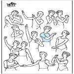 Allerhand Ausmalbilder - Ballett Haltungen